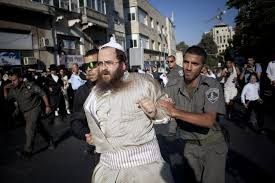 Protest by Mea Shearim